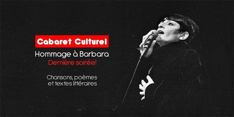 Le Cabaret Culturel présente le spectacle hommage à Barbara ce 25 octobre