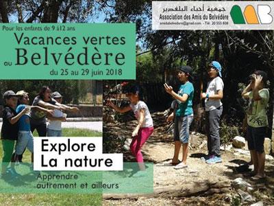 Vacances vertes au Belvédère du 25 au 29 juin