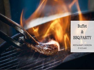 Buffet & BBQ Party Aid au Mövenpick Hotel Gammarth Tunis les 21 et 22 août 2018