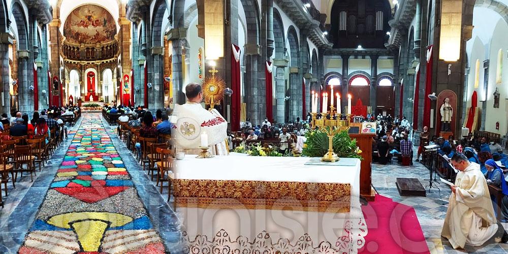 En photos : Célébration de la Fête du Corps et du Sang du CHRIST à la cathédrale de Tunis