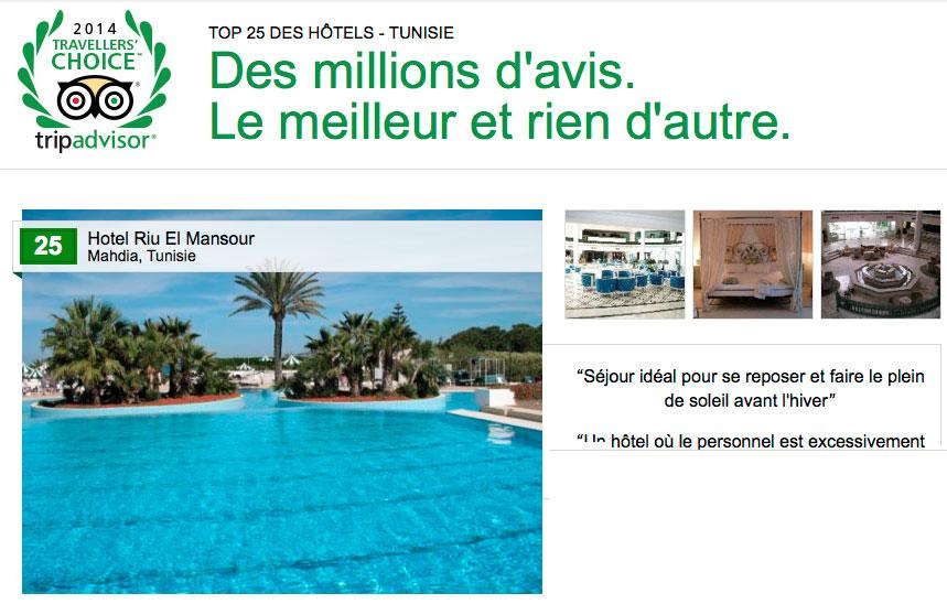 Découvrez le Top 25 des Hôtels en Tunisie