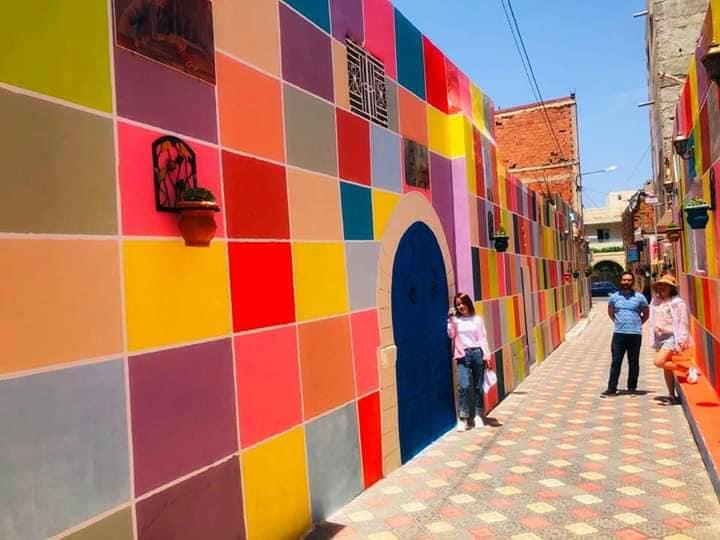 Les ruelles de la Médina de Monastir toutes en couleurs
