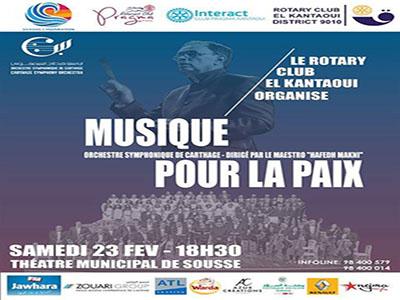 Concert: Musique Pour la Paix animé par l'orchestre syphonique de Carthage