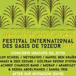 Programme de la 36ème édition du Festival des Oasis de Tozeur du 22 au 27 décembre 2014