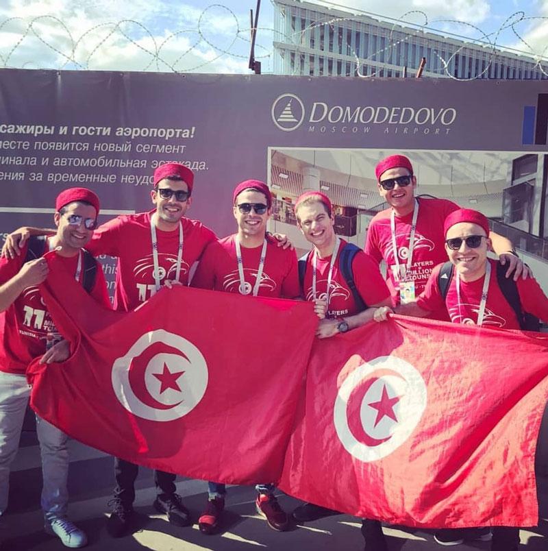En photos : Le drapeau Tunisien à la conquête de la Russie