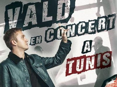 Vald en concert à Tunis le 30 juin à la Coupole d'El Menzah
